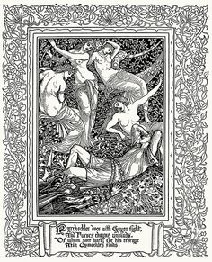 Walter Crane, from Spenser's Faerie queene vol. 2, by Edmund Spenser, London, 1895.