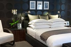 The black color in the bedroom design