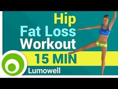 How To Lose Hip Fat - 3 Minutes - YouTube