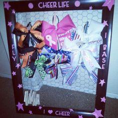 Cheerbox bow holder..good idea!!