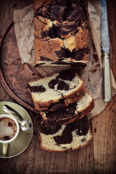 Babka łaciata czekoladowo-cytrynowa