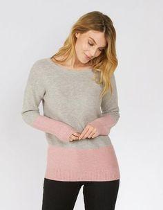 Colour Block Jumper, Knitwear | FatFace.com