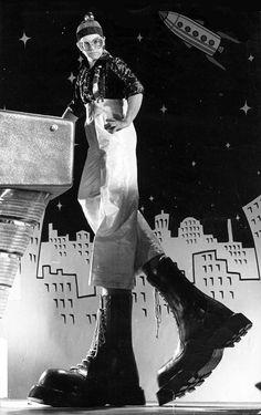 Elton as the Who's Pinball Wizard.