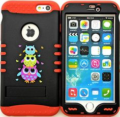 "myLife Stylish Design and Layered Protection Case for iPhone 6 Plus (5.5"" Inch) by Apple {Bright Rose Red ""Stacked Owl Heart Finish with Kickstand"" Three Piece SECURE-Fit Rubberized Gel} myLife Brand Products http://www.amazon.com/dp/B00PX7SYRQ/ref=cm_sw_r_pi_dp_wX2Cub0CRXN69"