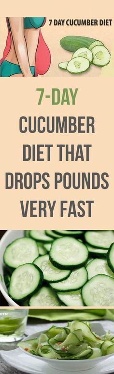 7 DAYS – 7 KG LESS (CUCUMBER DIET) COMMENTS CUCUMBERS ARE THE PERFECT DIET FOOD; THEY HAVE VIRTUALLY NO CALORIES, BUT ARE RICH IN IMP - HEALTHY WEBMD
