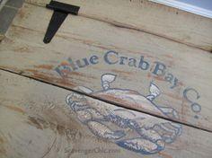 Painted Crate diy, Wooden Storage Crate, Repurposed Fruit Crate