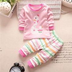 2018 Newborn Baby Boy Clothes Suit 3pcs Long Sleeve Tops Bodysuit Stripe Pants Trousers Hat Outfit Autumn Winter Cotton 0-12m Boys' Baby Clothing Mother & Kids
