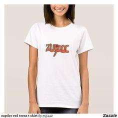 zupdoc red teens t shirt