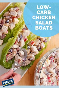 Try this low-carb & easy recipe from PERDUE® Chicken. Low Carb Chicken Salad, Pecan Chicken Salads, Dried Cherries, Food Safety, Calorie Diet, Healthy Alternatives, A Food, Easy Meals, Ethnic Recipes