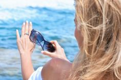 fashion, ring, jewellery, blonde, women, sea, blue, water, sunglasses, Trussardi