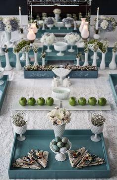 Ocean Burst - Sofreh Aghd Design Bits and Blooms Inc. Iranian Wedding, Persian Wedding, Haft Seen, Baby Wedding, Wedding Table, Wedding Ceremony, Dream Wedding, Bohemian Bride, Chuppah