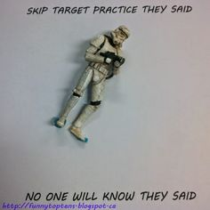 #StarwarsTuesday Storm trooper skip target practice http://funnytoptens.blogspot.ca/search/label/star%20wars
