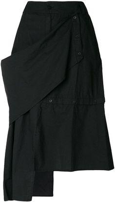 Barbara I Gongini asymmetric midi skirt Slow Fashion, Urban Fashion, Knit Fashion, Fashion Looks, Balloon Skirt, Mori Girl Fashion, Fashion Details, Fashion Design, Minimal Fashion