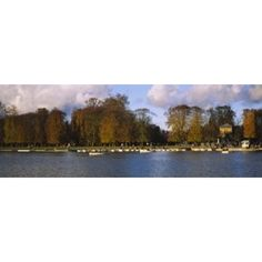 Boats in a lake Chateau de Versailles Versailles Yvelines France Canvas Art - Panoramic Images (18 x 7)