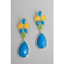 Color Block Teardrop Earrings - $15.00