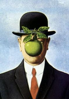 The Son of Man, 1964 #magritte #surrealism #apples #portraiture