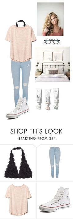 """Look at you kids with your vintage music"" by zmarie2001 ❤ liked on Polyvore featuring River Island, Gap, Converse, Kuboraum and vintage"
