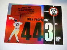 2007 Topps Alex Rodriguez Road to 500 HR #443 Yankees NM/MT