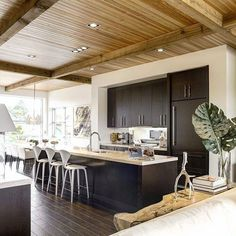 This west coast open kitchen/living/dining design is still looking fresh even after all these years 🌲 • Architecture & interior design by @mckinleyburkart • #gooddesignistimeless #loveyourhome #westcoaststyle #buy&sellwithus #luxuryrealestate #localrealtors - posted by Maison Calgary Real Estate https://www.instagram.com/maison_calgary_real_estate - See more Real Estate photos from Local Realtors at https://LocalRealtors.com