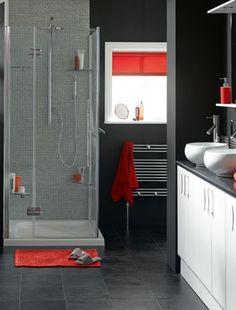 Modern city chic bathroom design idea