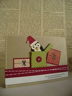 Penguin in a box - Stampin' Up Owl Punch