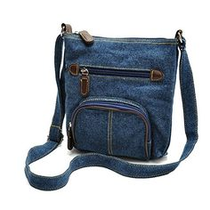 Womens Western Style Mini Retro Denim Shoulder Bag Purse Crossbody Message Bags Blue ** Want additional info? Click on the image.