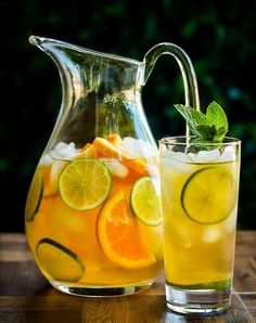 Refreshing Drinks, Fun Drinks, Yummy Drinks, Healthy Drinks, Cold Drinks, Beverages, Healthy Food, Iced Tea Recipes, Cocktail Recipes