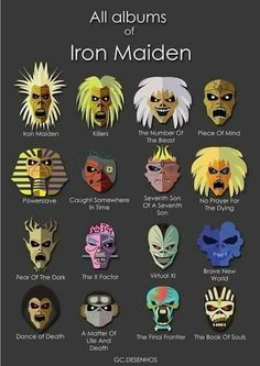 Various Incarnations of Eddie from Iron Maiden - http://www.pinterest.com/TheHitman14/eddie-of-iron-maiden-fame/