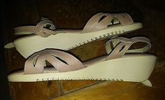 New Never Worn 80's Vintage Cherokee Of California shoes NOS brown sandals sz 7
