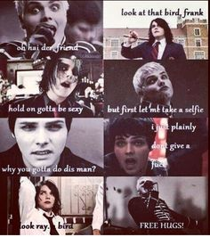 The many faces of Gerard Way lol