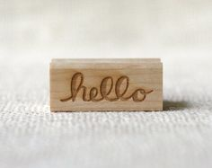 love this simple rubber stamp. would be awesome for project life and a simple stationery.