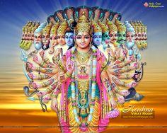 Lord Krishna Virat Roop Wallpapers Free Download