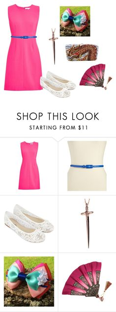 """""""Mulan Disney Bounding"""" by hannah-cat ❤ liked on Polyvore featuring Diane Von Furstenberg, Another Line, Accessorize, Rachel Roy and Judith Leiber"""