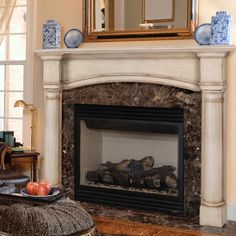 images of fireplace surrounds | ... Wood Fireplace Mantel Surround - Fireplace Surrounds at Hayneedle