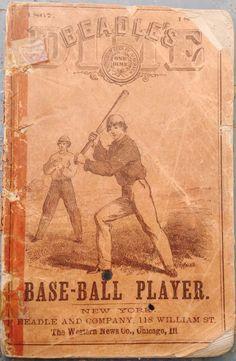 Antique Original Rare 1867 Beadle's Dime Baseball Guide Henry Chadwick Vintage