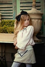 OK..hate the makeup, but love the outift!!  Dollcake Clothing - School Is Out Bow Headband (First Age 2-8)