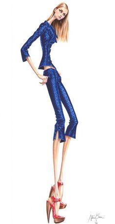 Fashion Illustration by #Arturo Elena