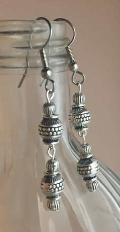 All pewter with SS overlay  beads.