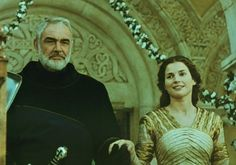 "Sean Connery as King Arthur & Julia Ormond as Guinevere in 1995's ""First Knight"""