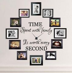 Time Spent With Family Is Worth Every Second Wall Decal ==