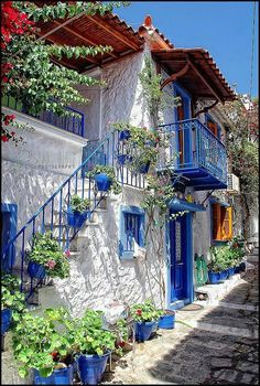 Skiathos, Greece| love these houses !!