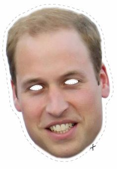 Free Prince William Cut Out Printable Mask #free #printable