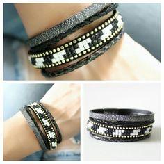 bracelet-multi-tours-tendance-2017-noir-1