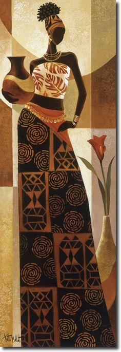 African Drawings, African Art Paintings, African Artwork, African Girl, African American Art, African Women, Black Girl Art, Black Women Art, Afrique Art