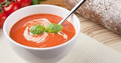 Tomato and Olive Soup with Basil Cream Ninja Recipes, Soup Recipes, Cooking Recipes, Healthy Recipes, Healthy Foods, Diet Recipes, Healthy Eating, Sonoma Diet, Best Tomato Soup