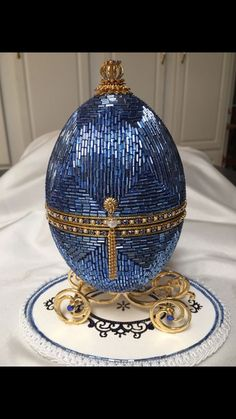 Egg Crafts, Easter Crafts, Fabrege Eggs, Tsar Nicolas, Egg Shell Art, Faberge Jewelry, Carved Eggs, Blue Eggs, Egg Designs