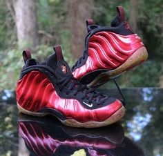 7353e0751d7 Nike Air Foamposite Varsity Red White Black 314996-610 Basketball Men s  Size 7.5  Nike