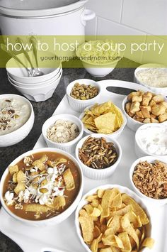 Fun tips and tricks for hosting a delicious soup party!