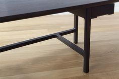 Detail of the Asa home office desk in solid Wenge by Piet Houtenbos.