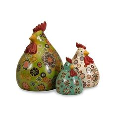 Canvon Chickens: Set of 3 (€46) ❤ liked on Polyvore featuring home and kitchen & dining